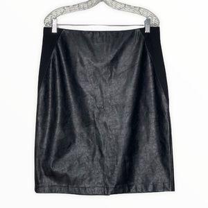 Chico's Vegan Leather Pencil Skirt Black*